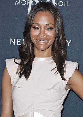 In Attendance Photograph - Zoe Saldana In Attendance For Gen Art by Everett