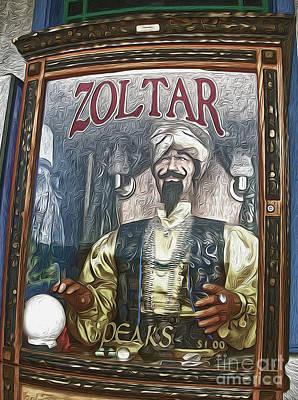 Painting - Zoltar The Fortune Teller by Gregory Dyer