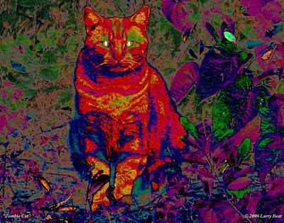 Digital Art - Zombie Cat by Larry Beat