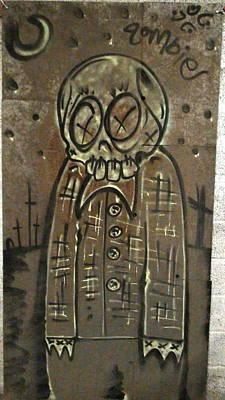 Zombie Metal Art Print by Travis Burns