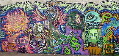 Zombie Monster Family Art Print by Travis Burns