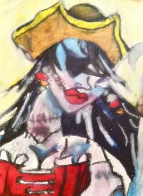 Pirate Wench Digital Art - Zombie Pirate Wench by Courtney Gainey