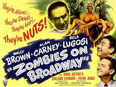 Bela Photograph - Zombies On Broadway, Bela Lugosi, Wally by Everett
