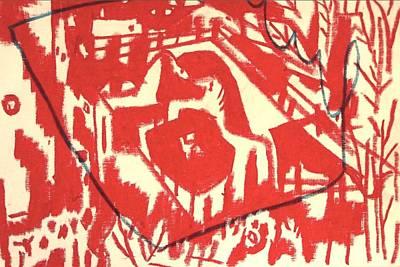 Led Zeppelin Drawing - zoo by Raul Gubert