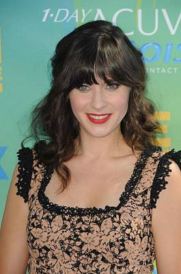 Zooey Deschanel At Arrivals For 2011 Art Print
