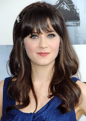 Zooey Deschanel At Arrivals For Film Art Print by Everett