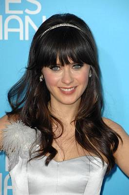 Zooey Deschanel At Arrivals For Los Print by Everett