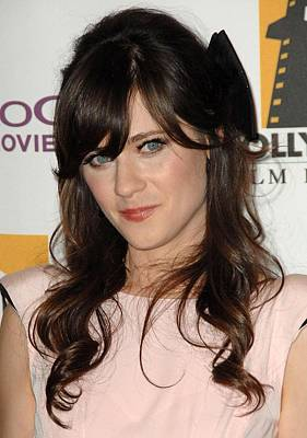 Zooey Deschanel At Arrivals For The Print by Everett