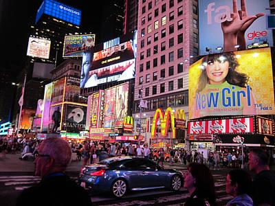 Zooey Deschanel Lights Up Broadway Art Print