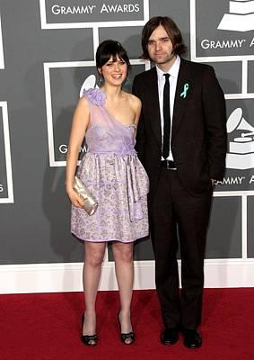 Staples Center Photograph - Zooey Deschanel Wearing A Luella Dress by Everett
