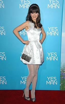 Zooey Deschanel Wearing An Erin Print by Everett