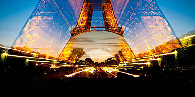 Photograph - Zooming In On The Base Of Eiffel Tower by Anthony Doudt