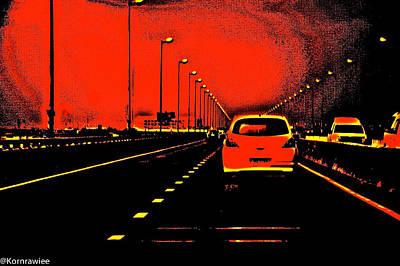 Zoomm... Art Print by Kornrawiee Miu Miu