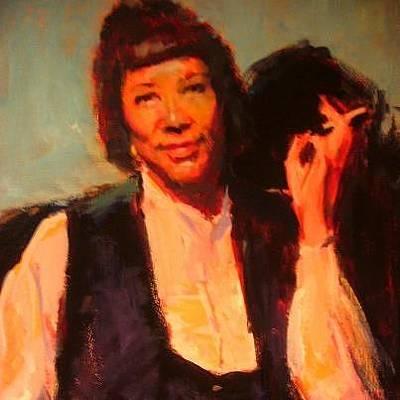 Painting - Zora Neale Hurston by Berto Ortega