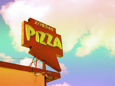 Photograph - Zorba's Pizza Retro Sign by Kathleen Grace