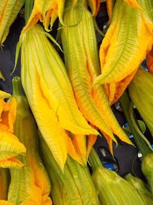 Photograph - Zucchini Blossoms by Caroline Stella