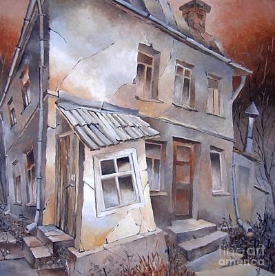 Mauer Painting - Zuhause-sold by Aivars Mangulis