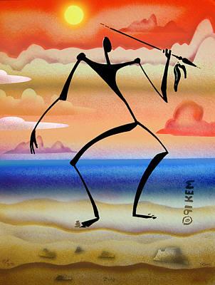 Zulu Art Print by Kevin McDowell