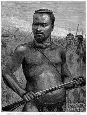 African Warriors Photograph - Zulu Prince, 1879 by Granger