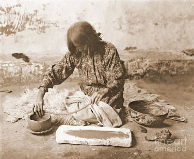 Zuni Photograph - Zuni Potter by Padre Art