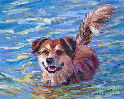 Painting - Zuzu- Coyote In The Bahamas by Li Newton