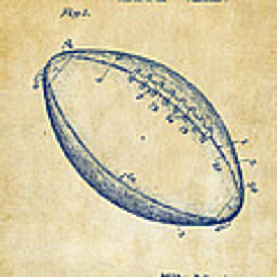1939 Football Patent Artwork - Vintage Art Print
