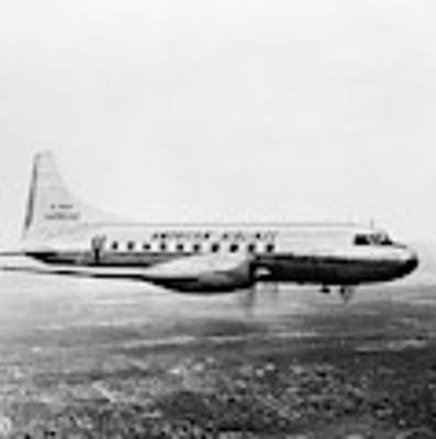 1940s 1950s American Airlines Convair Art Print by Vintage Images