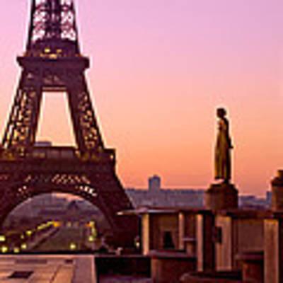 Eiffel Tower At Dawn / Paris Art Print by Barry O Carroll