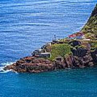 Fort Amherst Lighthouse On The South Side Of St Johns Harbour Art Print by Perla Copernik