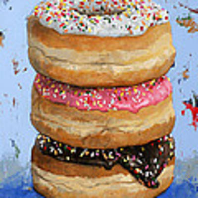 3 Donuts #2 Art Print by David Palmer