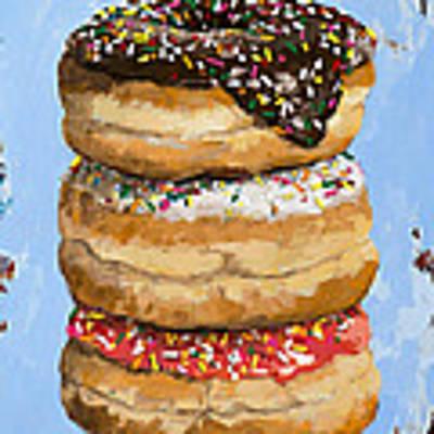 3 Donuts Art Print by David Palmer