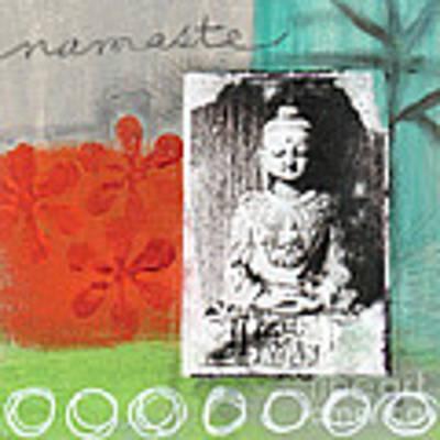 Namaste Art Print by Linda Woods