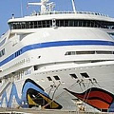 Aidavita At Dock In Port Canaveral Art Print by Bradford Martin