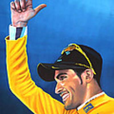 Alberto Contador Art Print by Paul Meijering