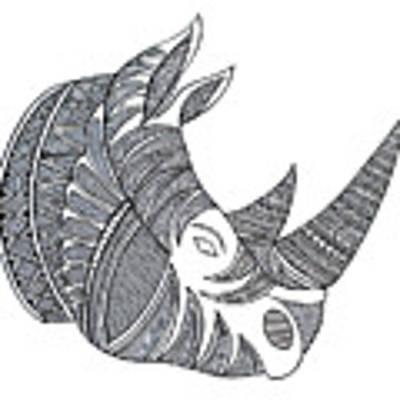 Animal Head Hippo Art Print