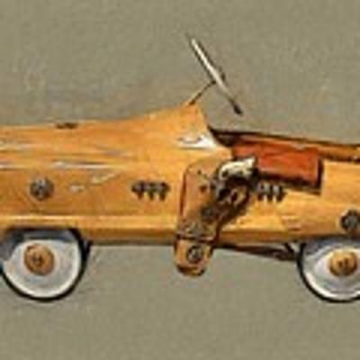 Antique Pedal Car L Art Print by Michelle Calkins