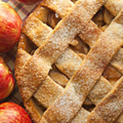 Apple Pie With Lattice Crust Art Print by Diane Diederich