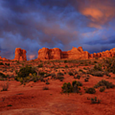 Arches Last Light Art Print by Greg Norrell