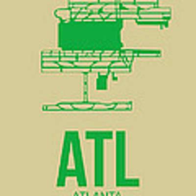 Atl Atlanta Airport Poster 1 Art Print by Naxart Studio