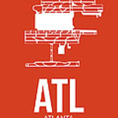 Atl Atlanta Airport Poster 3 Art Print