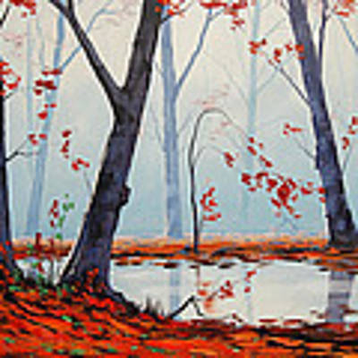 Autumn River Painting Art Print by Graham Gercken