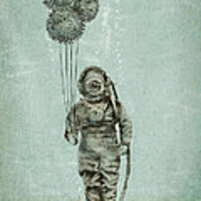 Balloon Fish Art Print by Eric Fan