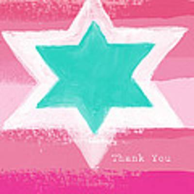 Bat Mitzvah Thank You Card Art Print