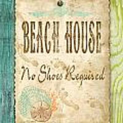 Beach Notes-d Art Print by Jean Plout
