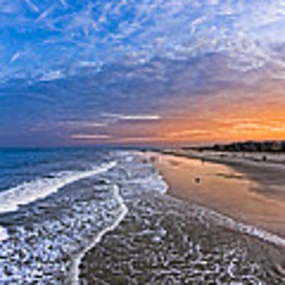 Beautiful Sunset Over Tybee Island Art Print by Mark E Tisdale