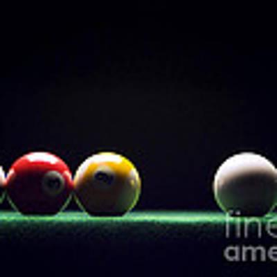 Billiard Art Print by Tony Cordoza