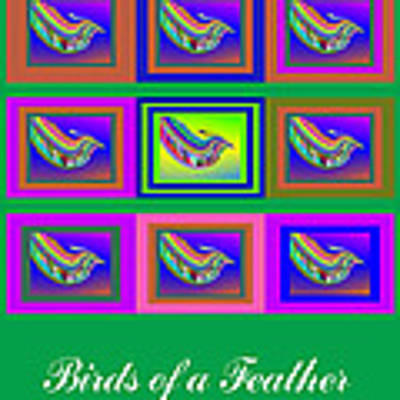 Birds Of A Feather 2 Art Print by Stephen Coenen
