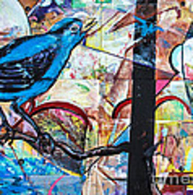 Bluebird Sings With Happiness Art Print by Terry Rowe