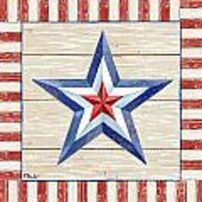 Bordered Patriotic Barn Star IIi Art Print