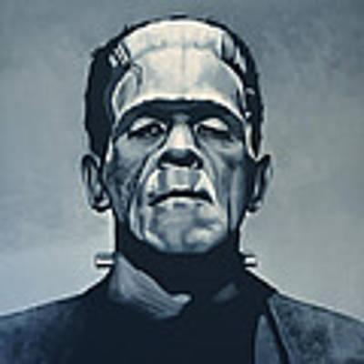 Boris Karloff As Frankenstein  Art Print